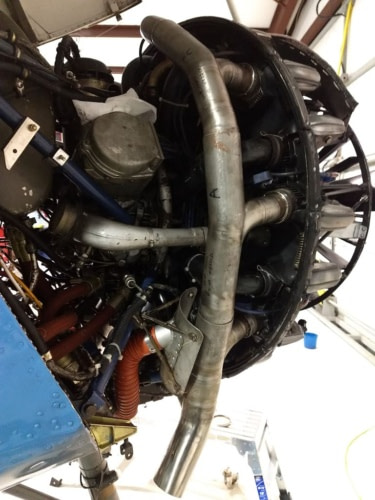 RADIAL M14 ENGINE EXHAUST #2